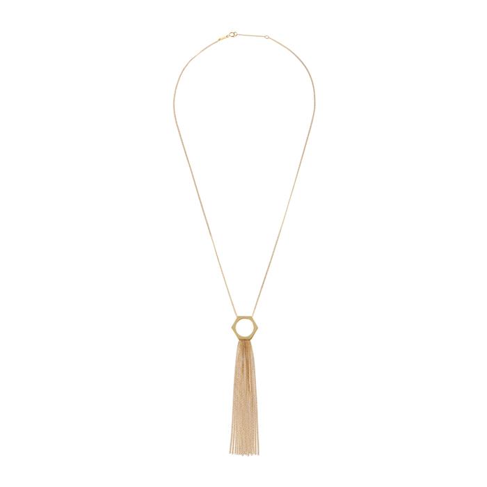 hex nuts drop necklace