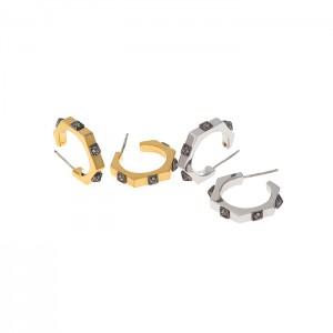hex nuts stud earrings