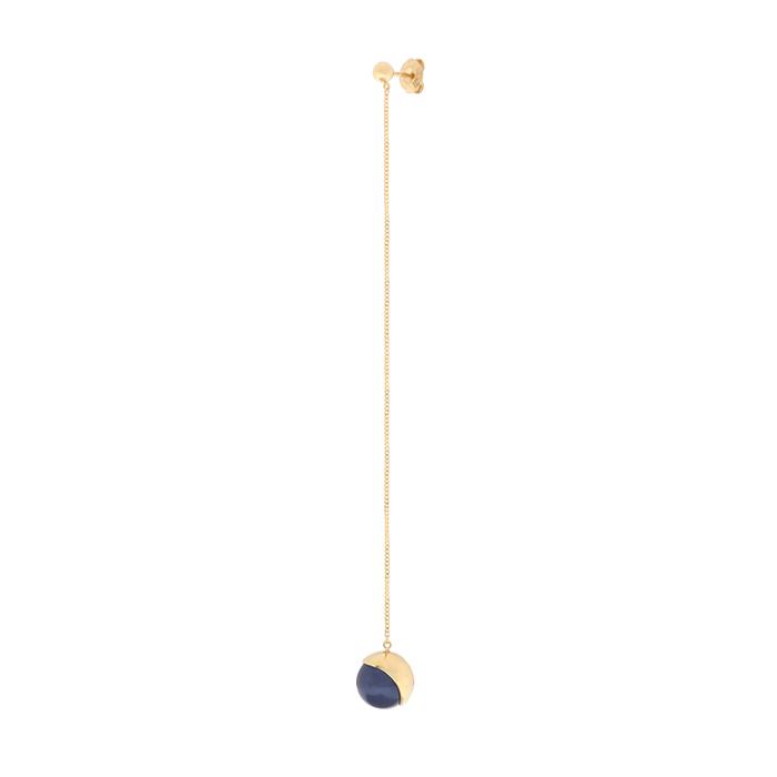 Full Moon wavy drop single earring<br>주문폭주