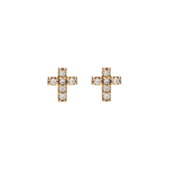 Dreamer Mini Cross Earrings