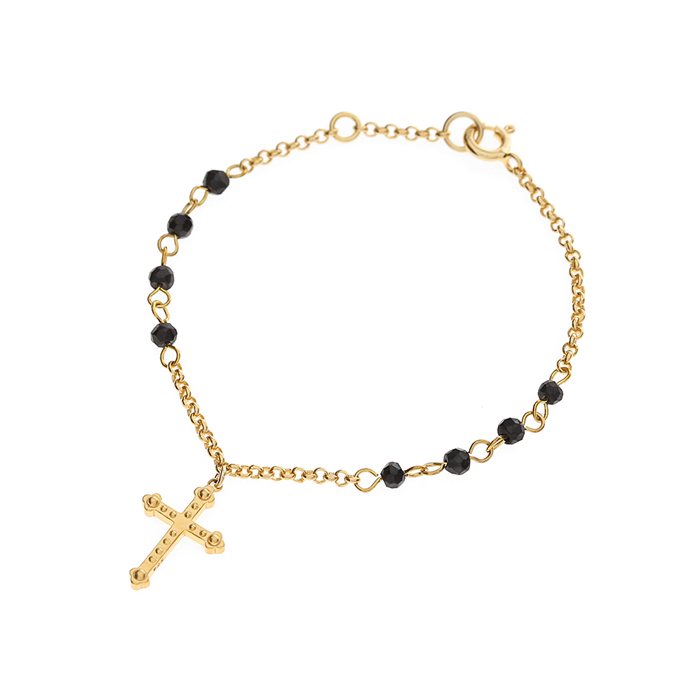 Dreamer Cross Black Spinel Bracelet