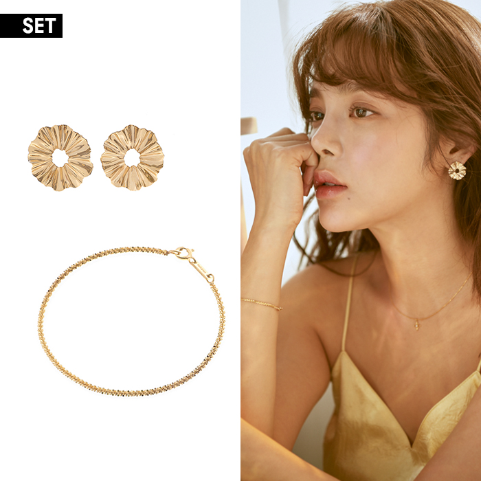 [SET] Joli Earrings and Bracelet