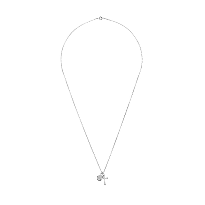 Dreamer Cross and Oval Necklace<br><b>주문폭주</b>