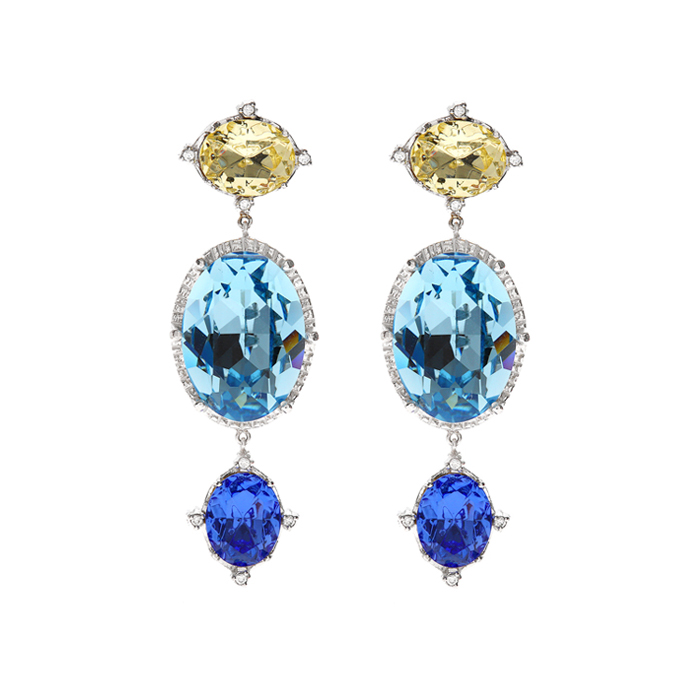 <b>구하라 착용</b><br>Fantasia Multi Crystal Earrings Pair