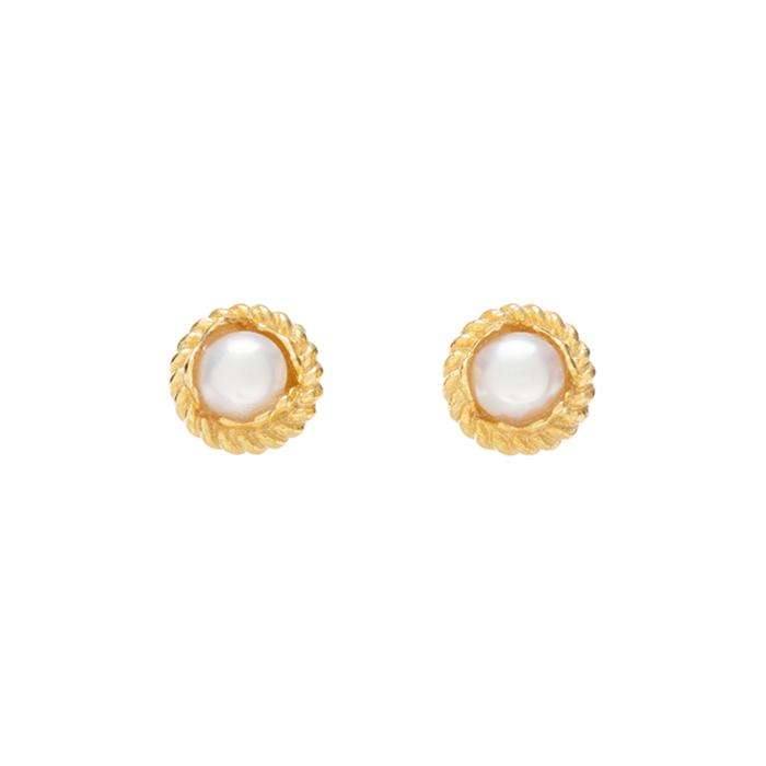 Midnight Sun Mini Pearl Earrings